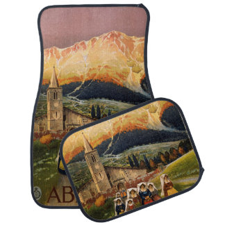 Vintage Travel Abrvzzo Italy car floor mats