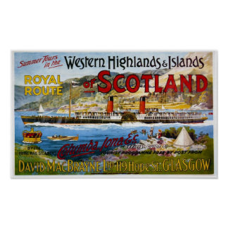 Vintage Travel Advert For Scotland 1890's Poster