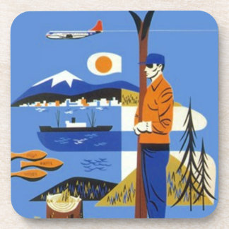 Vintage Travel Advertising Mtn Skiing NW Coasters