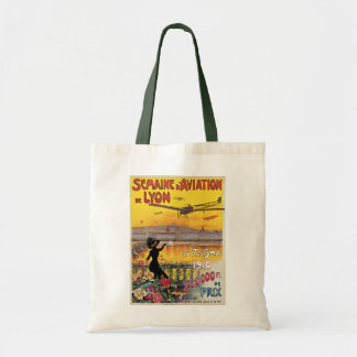 Vintage Travel, Airplanes Air Show, Lyon, France Tote Bag