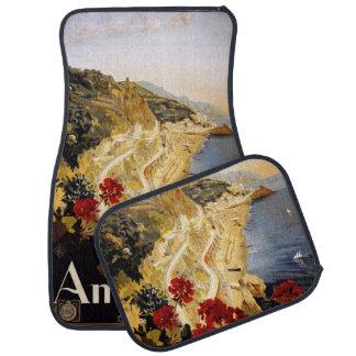 Vintage Travel Amalfi Italy car floor mats