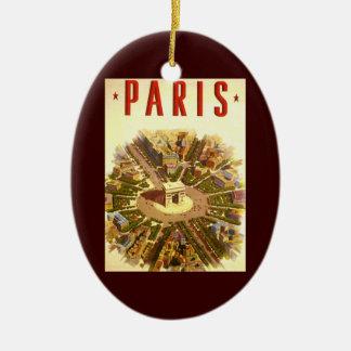 Vintage Travel, Arc de Triomphe Paris France Christmas Ornament
