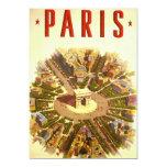 Vintage Travel, Arc de Triomphe Paris France 13 Cm X 18 Cm Invitation Card