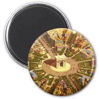 Vintage Travel Arc de Triomphe Paris France Magnets