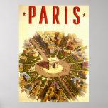Vintage Travel, Arc de Triomphe Paris France Poster