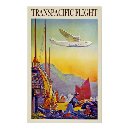 Vintage Travel Asia Far East By Aeroplane Poster