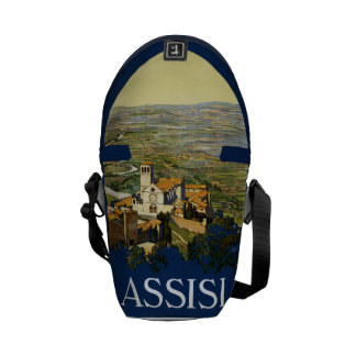 Vintage Travel Assisi Italy messenger bags