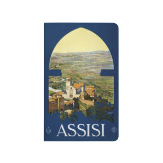 Vintage Travel Assisi Italy pocket journal