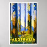 Vintage travel,Australia Poster