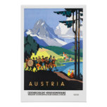 Vintage travel,Austria Print