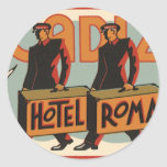 Vintage Travel Bellhops Hotel Roma, Cadiz, Spain Sticker