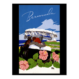 Vintage Travel Bermuda 1940s Postcard