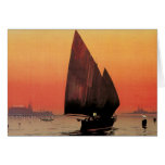 Vintage Travel, Boats at Excelsior Palace Venice Greeting Card