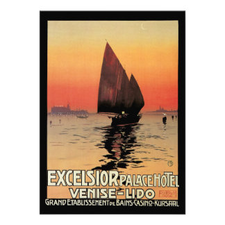 Vintage Travel Boats at Excelsior Palace Venice Announcements
