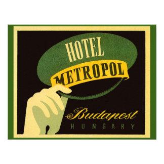 Vintage Travel Budapest Hungary Bellhop Hat Custom Invitations