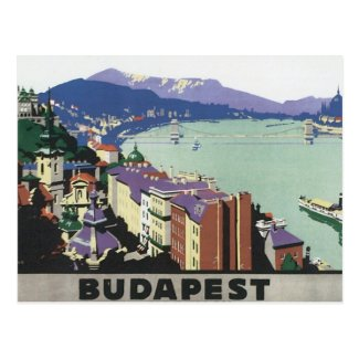 Vintage Travel Budapest Hungary