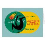 Vintage Travel by Plane Japan Label Art