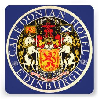 Vintage Travel Caledonian Hotel Edinburgh Scotland Custom Announcements