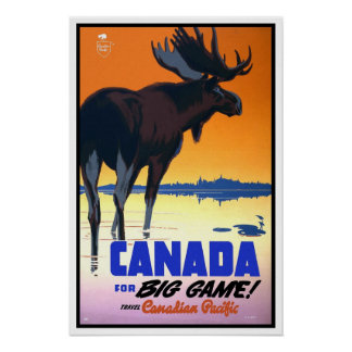 Vintage travel,Canadian Paciffic Poster