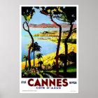 Vintage travel,Cannes Poster