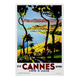 Vintage travel,Cannes Poster
