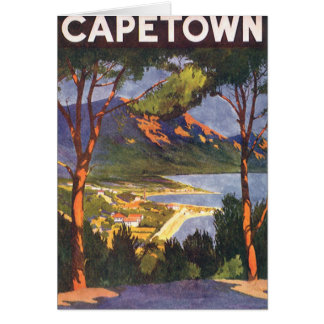 Vintage Travel, Cape Town, a City in South Africa Card
