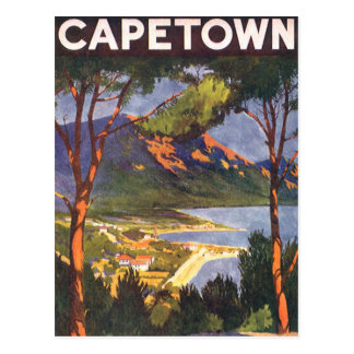 Vintage Travel, Cape Town, a City in South Africa Postcard