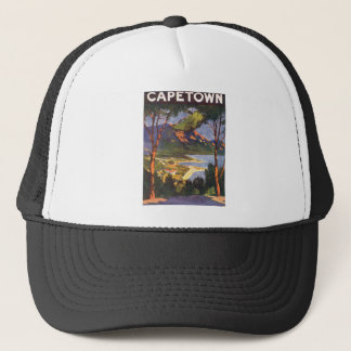 Vintage Travel, Cape Town, a City in South Africa Trucker Hat