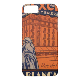 Vintage Travel, Casablanca in Morocco, Africa iPhone 8/7 Case