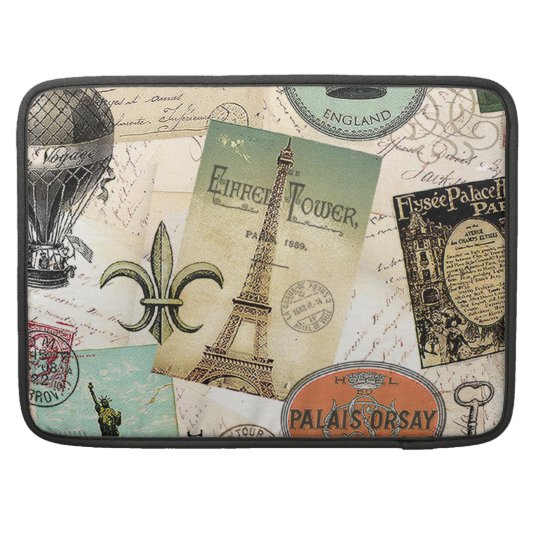 Vintage Travel collage macbook sleeve Sleeves For MacBooks