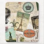Vintage Travel collage mousepad