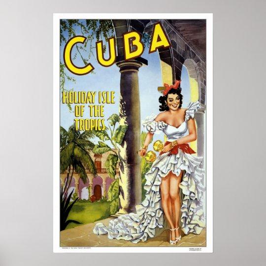 Cuba Travel Quotes: Vintage Travel,Cuba Poster
