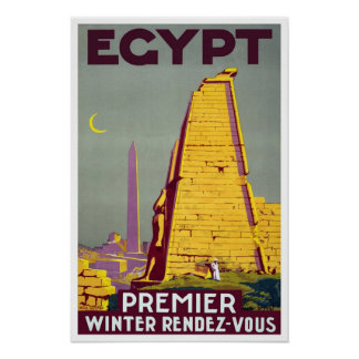 Vintage travel,Egypt Poster
