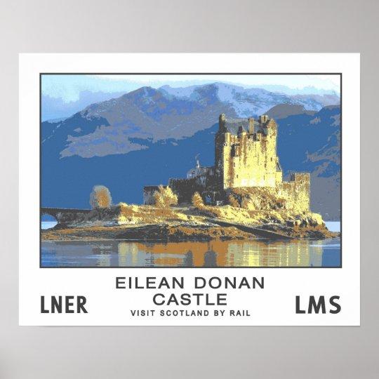 Vintage Travel,Eilean Donan Castle Poster