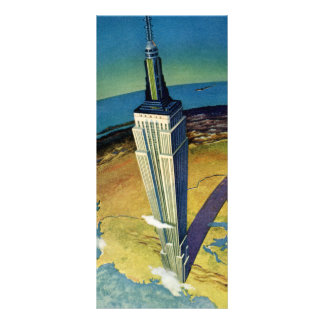 Vintage Travel Empire State Building New York City Customized Rack Card