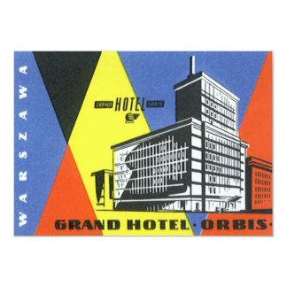 Vintage Travel Europe, Warsaw, Poland 13 Cm X 18 Cm Invitation Card