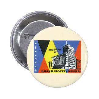Vintage Travel Europe, Warsaw, Poland 6 Cm Round Badge