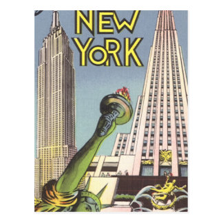Vintage Travel, Famous New York City Landmarks Postcards