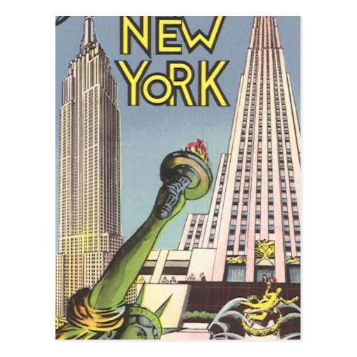 Vintage Travel, Famous New York City Landmarks Postcards