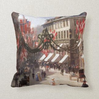 Vintage Travel Flag Day Denmark Pillows