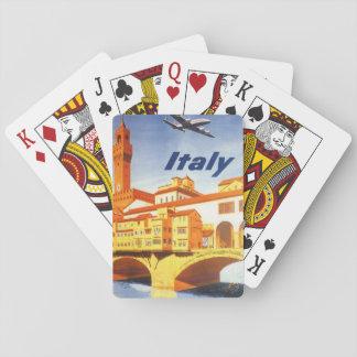 Vintage Travel Florence Firenze Italy Bridge River Poker Deck