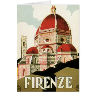 Vintage Travel Florence Firenze Italy Church Duomo Card