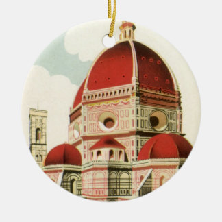 Vintage Travel Florence Firenze Italy Church Duomo Christmas Ornament