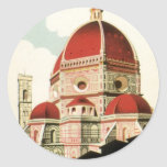 Vintage Travel Florence Firenze Italy Church Duomo Stickers