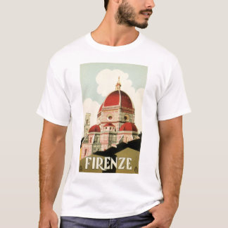 Vintage Travel Florence Firenze Italy Church Duomo T-Shirt