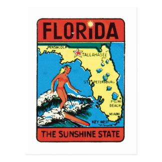 Vintage Travel Florida FL State Label Postcards