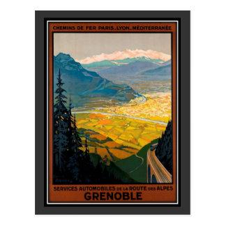 Vintage travel France, Grenoble - Postcard