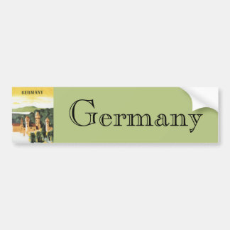 Vintage Travel, German Castle, Bavaria Germany Bumper Sticker