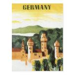 Vintage Travel, German Castle, Bavaria Germany Postcard