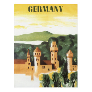 Vintage Travel, German Castle, Bavaria Germany Postcard